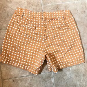 Preppy marigold cotton shorts with pockets.